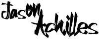 Jason Achilles script logo black